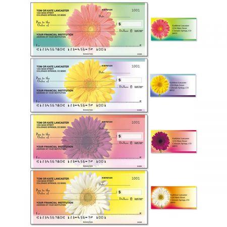 Illuminated Petals Duplicate Checks With Matching Address Labels