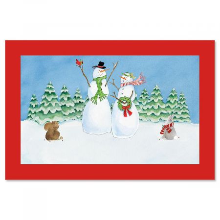 Snow Family Doormat
