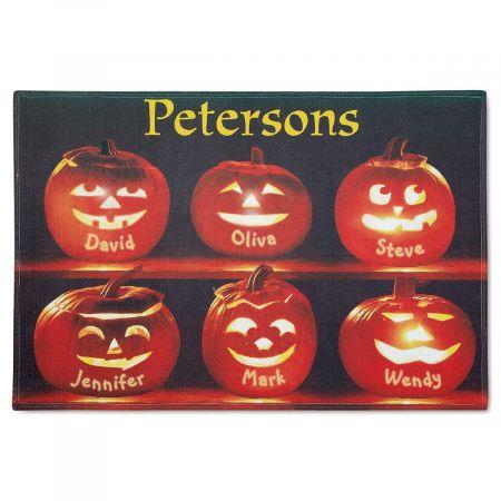 Pumpkin Family Custom Doormat