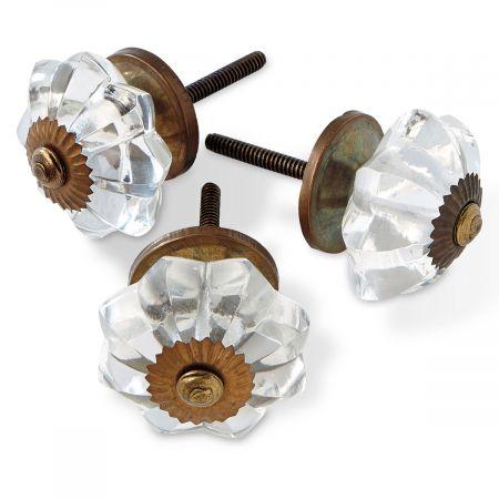 Floral Burst Glass Knobs