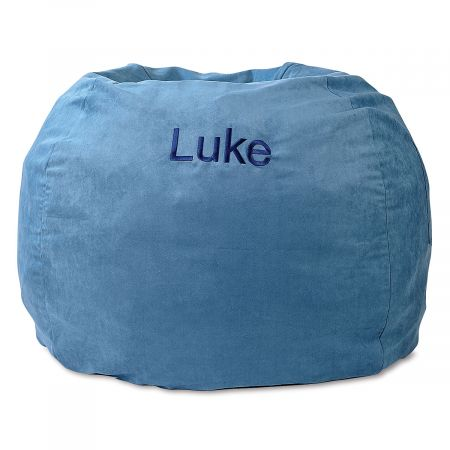 Custom Blue Bean Bag Chair