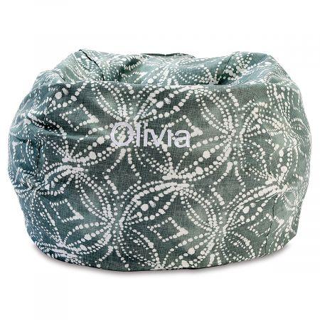 Custom Waterbury Green Bean Bag Chair