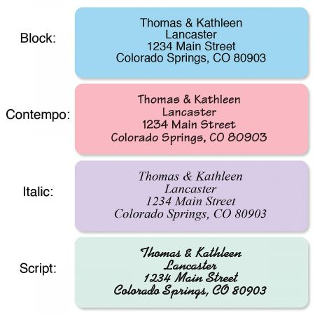 Pastel with Symbol Standard Rolled Address Labels