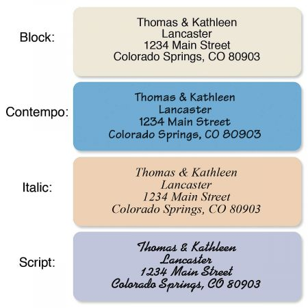 Stonewashed with Symbol Standard Rolled Address Labels