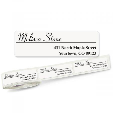 Elegant Font Off-Center Rolled Address Labels