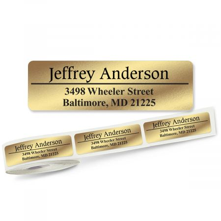 Conventional Lined Rolled Address Labels - 3 Colors (Roll of 500)