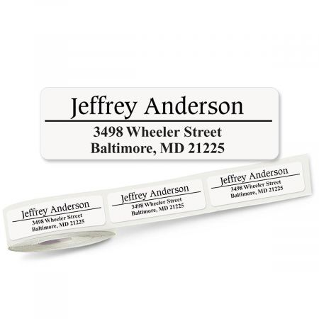 Conventional Lined Rolled Address Labels - 3 Colors (Roll of 250)