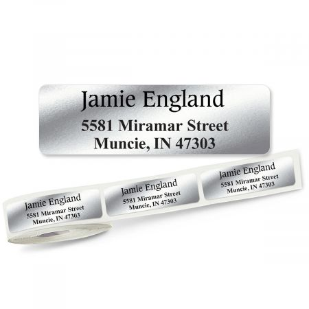 Conventional Font Front & Center, Unlined  Rolled Address Labels - (Roll of 500)