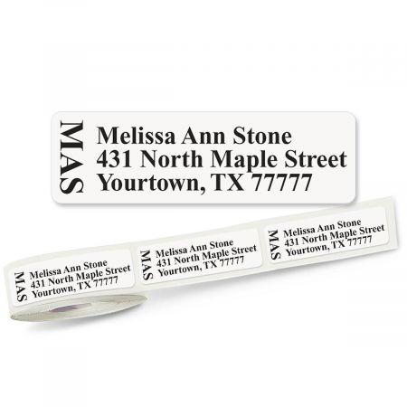 Unique Monogram  Rolled Address Labels