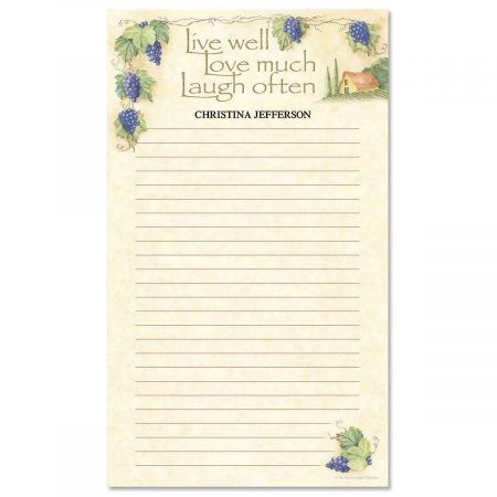 Live, Love, Laugh Custom Memo Pads