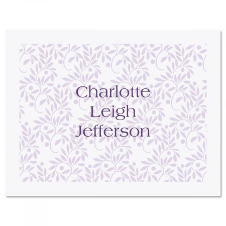 Willow Stencil Personalized Note Cards