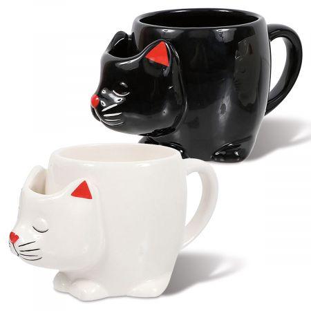 Cat Teabag Novelty Mugs
