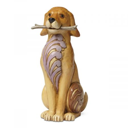 Dog with Stick Figurine by Jim Shore