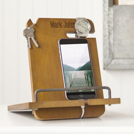 Custom Wooden Docking Station