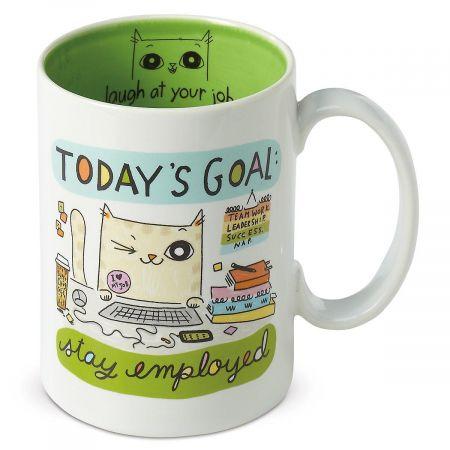 Today's Goal Cat Mug