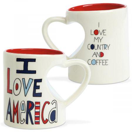 Heart America Novelty Mug