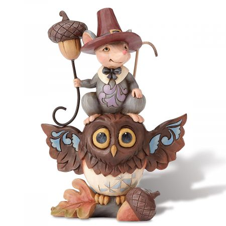 Pint-Sized Mouse on Owl by Jim Shore