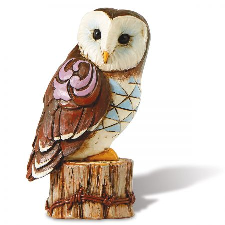 Jim Shore Owl on Stump Mini Figurine