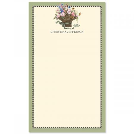 Floral Basket Custom Memo Pads