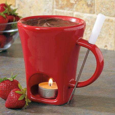 Red Fondue Mug