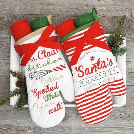 Christmas Gift Sets.Christmas Oven Mitt Gift Set