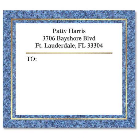 Blue Granite Foil Package Labels