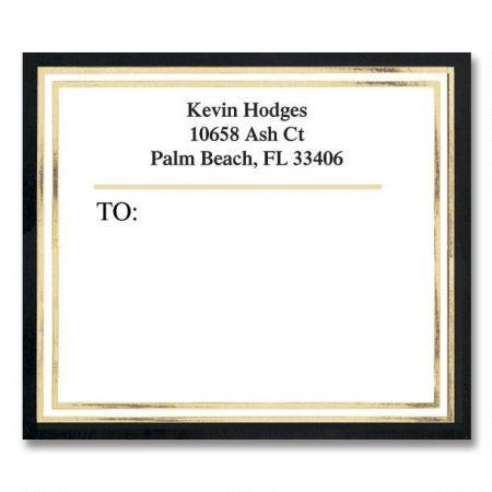 Black & Gold  Foil Package Labels