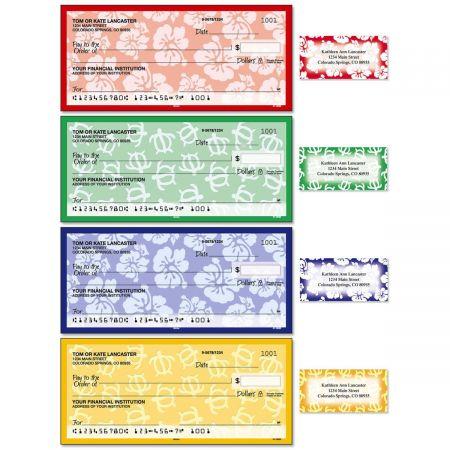 Aloha Single Checks With Matching Address Labels
