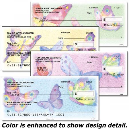 Watercolor Wings Personal Checks