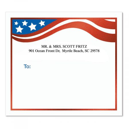 Flag of Freedom Foil Package Labels