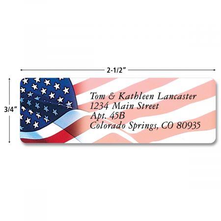 American Glory Rolled Return Address Labels