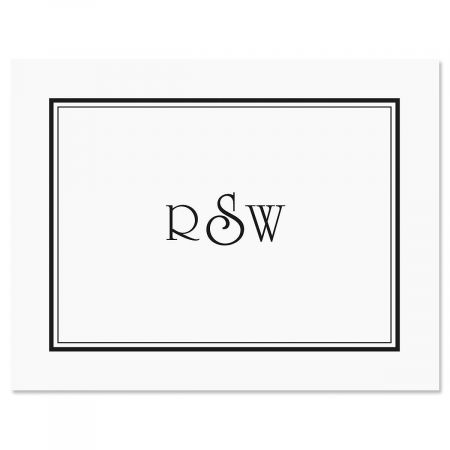 Elegant Monogram Custom Note Cards