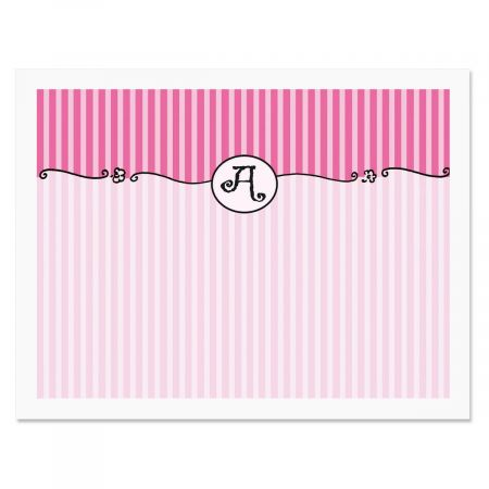 Parisian Initial Personalized Note Cards