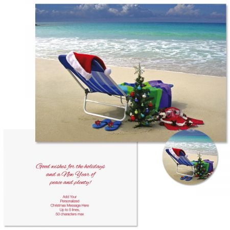 Hawaiian Holiday Christmas Cards -  Personalized
