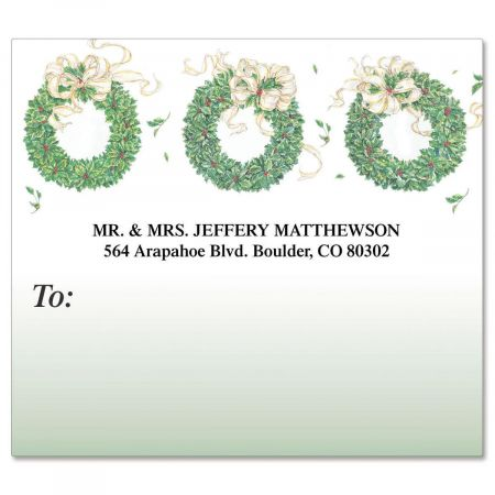 3 Wreaths  Package Labels