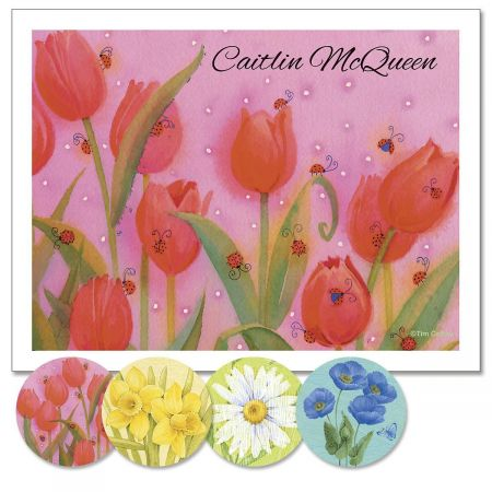 Springtime Delights  Personalized Note Cards