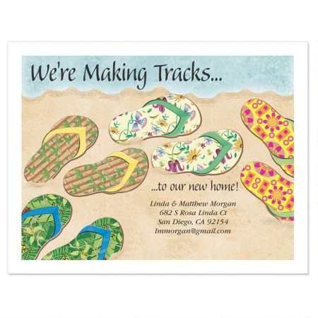 Baja Flip-Flops New Address Postcards