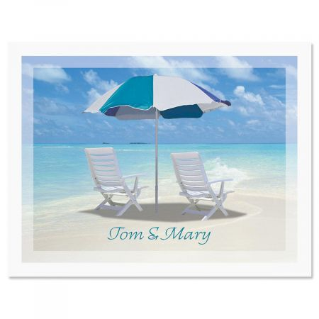 Calm Seas Custom Note Cards