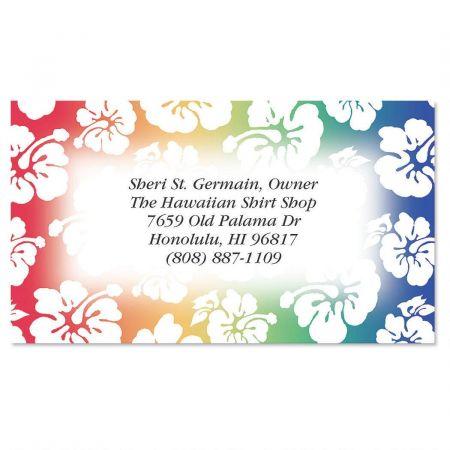 Hawaiian Print Business Cards