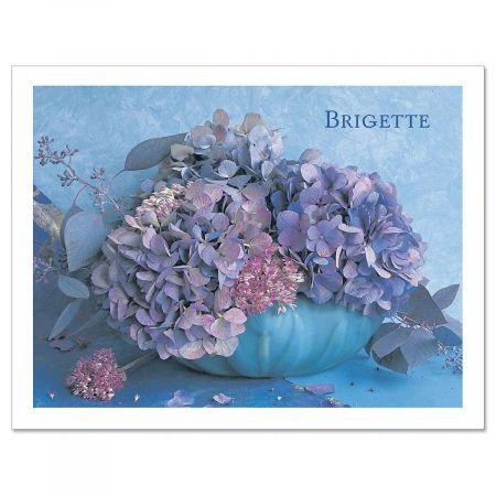 Hydrangea Custom Note Cards