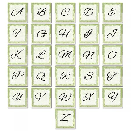 Tailored Elegance Initial Custom Note Cards