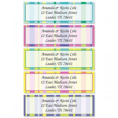 Graphic Stripes Rolled Return Address Labels (5 Designs)