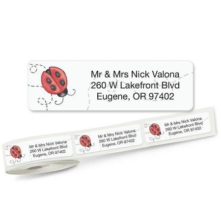 Ladybug Rolled Address Labels
