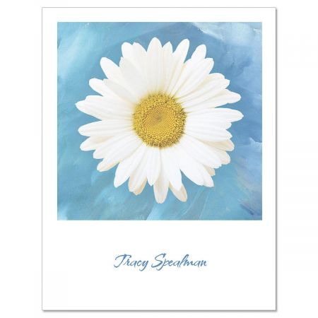 Photographic Daisy  Custom  Note Cards