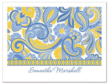 Paisley  Custom Note Cards