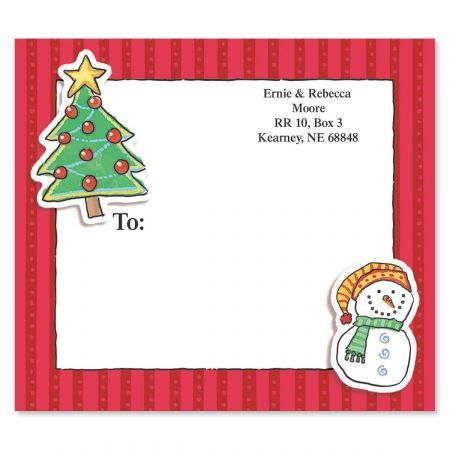 Holiday Doo Dads Package Labels
