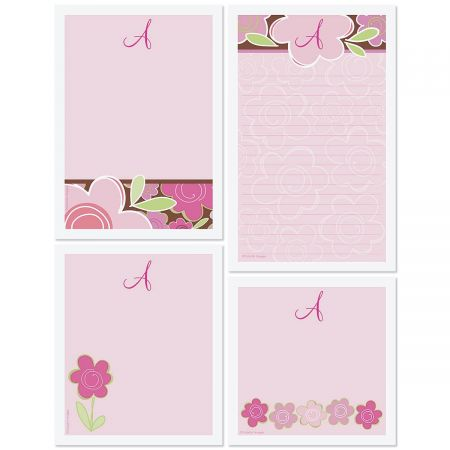 Shades of Pink Personalized Stationery Memo Set