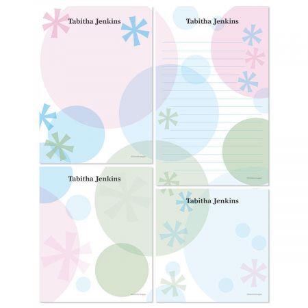 Retro Patterns Memo Pad Sets