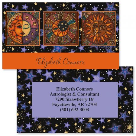 Sun & Moon Double-Sided Business Cards