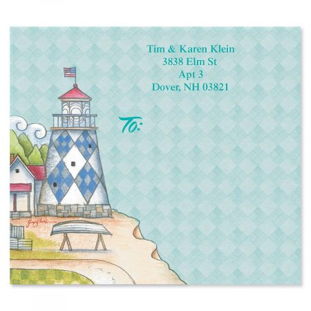 Lighthouses by Jim Shore Package Labels